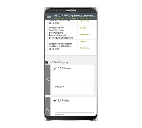 Checklistenbasierte mobile Auftragsabwicklung