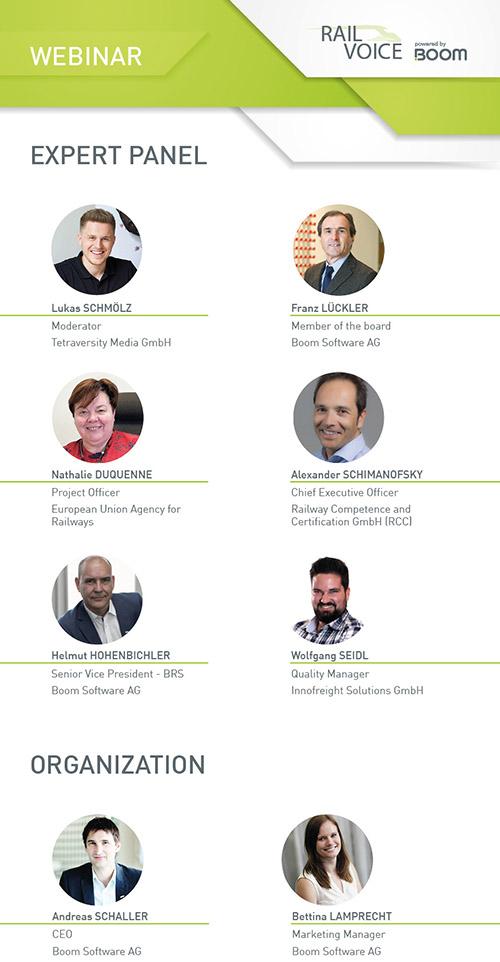 Team des ersten RailVoice Webinars